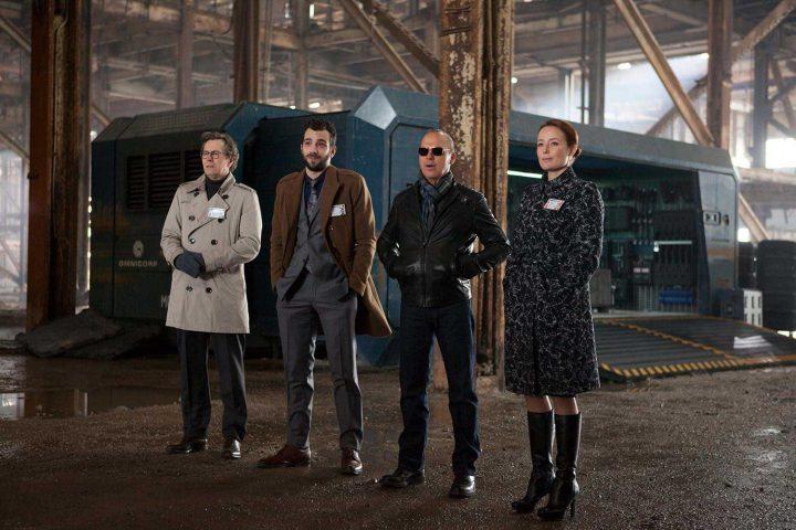 Robocop - actors standing in warehouse